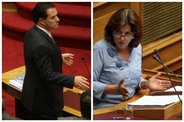 «Κόλαση» Γεωργιάδη-Φωτίου στη Βουλή: Αδωνις: Μη μιλάς έχεις 1,5 εκατ. ευρώ στην τράπεζα -Φωτίου: Είσαι Γκεμπελίσκος