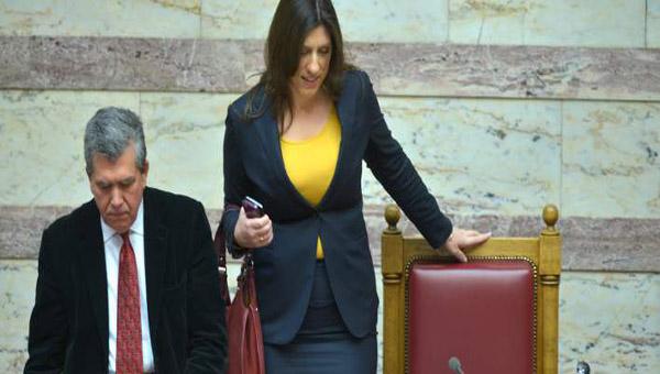 Επέστρεψε η Ζωή στη Βουλή διέκοψε τη συνεδρίαση και... «έδιωξε» τον Μητρόπουλο από την έδρα