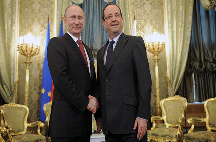 """Πούτιν και Ολάντ """"σφράγισαν"""" τη συμμαχία ενάντια στο Ισλαμικό Κράτος: Θα συνεργαστούμε στενά ενάντια στην τρομοκρατία"""