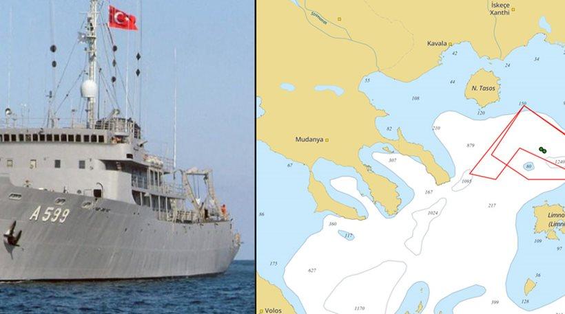 Στο Αιγαίο το Τσεσμέ - Δείτε που κινείται το τουρκικό πλοίο