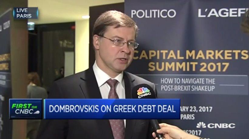 Ντομπρόβσκις: Ελπίζουμε σε συμφωνία για την Ελλάδα στο επόμενο Eurogroup