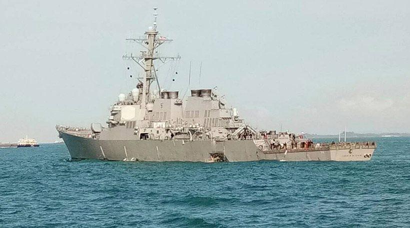 Ελληνικών συμφερόντων το δεξαμενόπλοιο που συγκρούστηκε με αμερικανικό αντιτορπιλικό