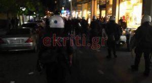 Σε αστυνομικό κλοιό η πορεία για το Πολυτεχνείο στην Κρήτη